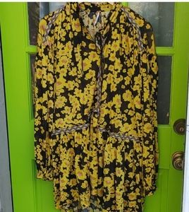 Free People floral tunic /dress sz like new
